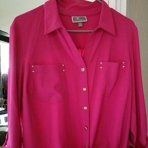Women's XL Pink Blouse (Never Worn)